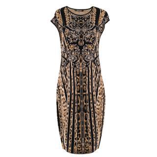 Roberto Cavalli leopard-jacquard knit dress