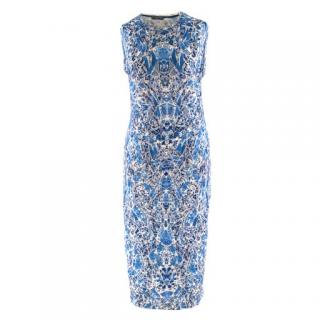 Alexander McQueen porcelain-print wool-jersey dress