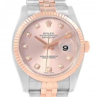 Rolex Osyter Perpetual Datejust II Rose Gold Diamond Set Watch