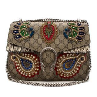 GUCCI GG Supreme Monogram Python Embroidered Dionysus Bag