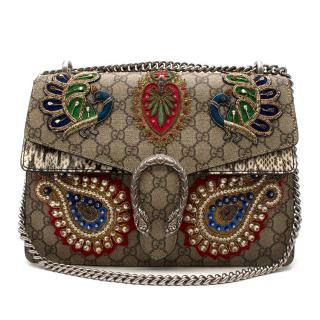 GUCCI GG Supreme Monogram Python Embroidered Dionysus Bag