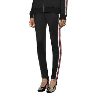 Gucci crystal-embellished tapered trousers - New Season
