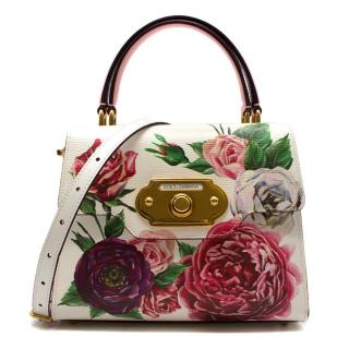 Dolce & Gabbana Small Welcome Floral Printed Bag