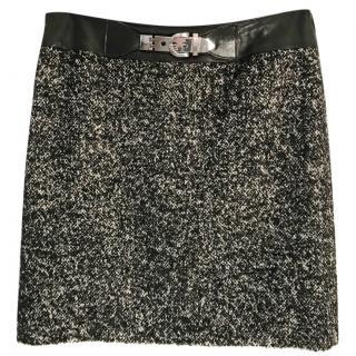Georges Rech alpaca & wool blend black & white skirt