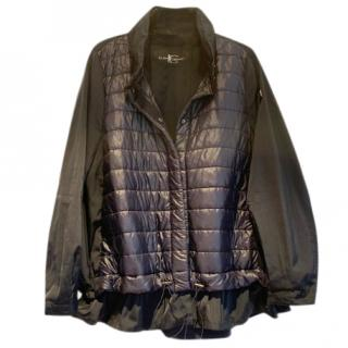 Luisa Cerano Navy Quilted Techno Jacket