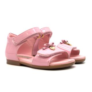 Dolce & Gabbana Girl's Pink Patent Leather Sandals