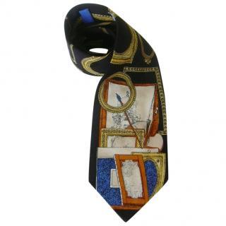 Fornasetti Picture Frames Silk Tie