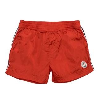 Moncler Boy's Red Swimming Trunks