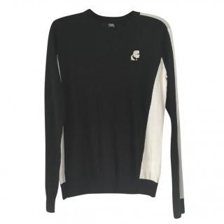 Karl lagerfeld cotton black & white sweater