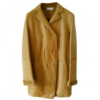 Burberry Faraday Double-breasted coat in shearling