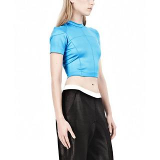 T by Alexander Wang blue petite crop top
