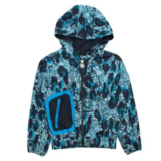 Young Versace boys 18 month baroque-print hooded jacket