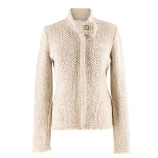 Chanel Beige Alpaca Wool Tweed Jacket
