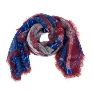 Chanel CC tweed-print cashmere scarf