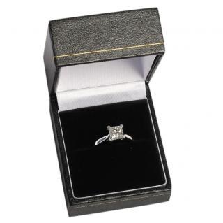 Bespoke Ilusion Set Princess Cut Diamond Ring