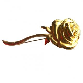 Givenchy Couture Large Rose Brooch