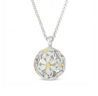 Sphere Of Life Large Enamel Daisy Pendant