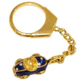 Bespoke Diamond & Enamel Supercar Keyring Solid 18ct Gold