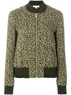 Michael Michael Kors Green Khaki printed bomber jacket