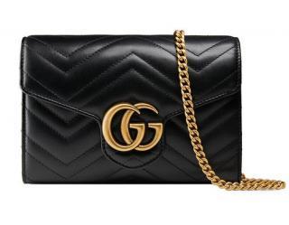 Gucci GG  Black Marmont Matelass� Mini Bag