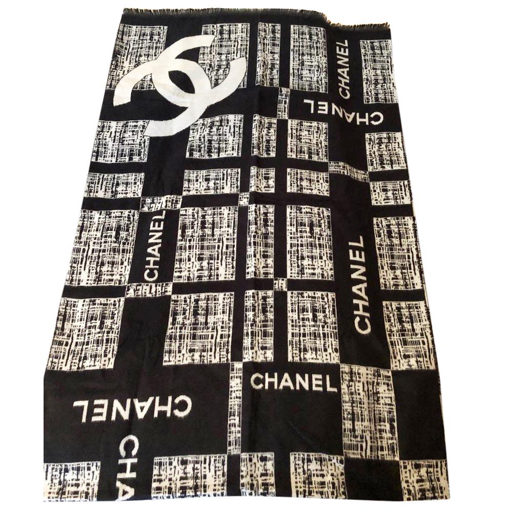Chanel Monochrome Cashmere Scarf