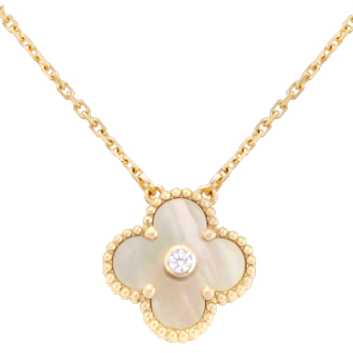 Van Cleef & Arpels diamond set alhambra necklace, limited edition