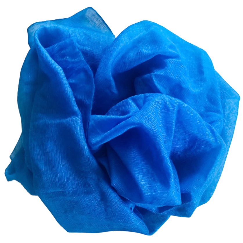 Hermes blue cashmere and silk blend stole