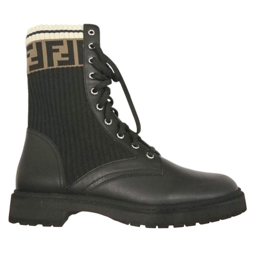 Fendi rockokok combat ankle boots