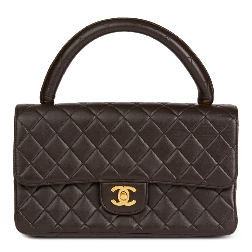 f8c8882044fc Chanel Chocolate Brown Lambskin Vintage Medium Classic Kelly Flap | HEWI  London
