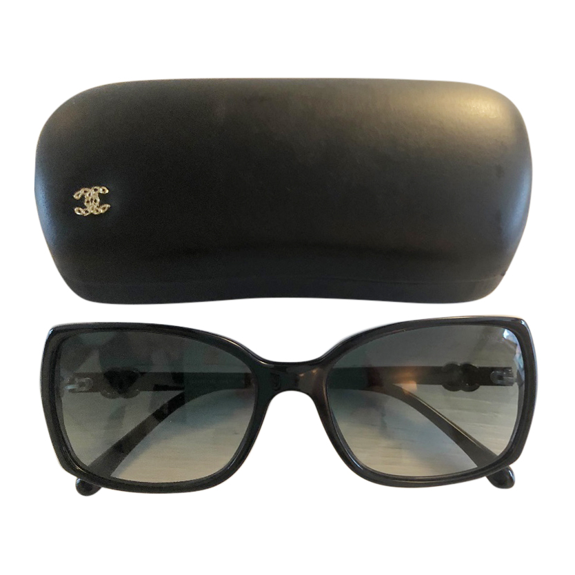 6719ba524418 Chanel Classic Black Sunglasses