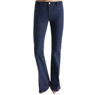 MIH dark-blue mid-rise flared jeans