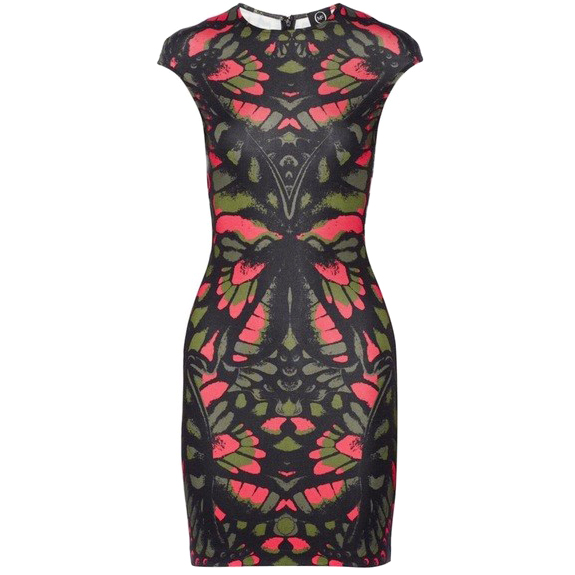 McQ Alexander McQueen Butterfly Camo Printed Stretch-Jersey Dress