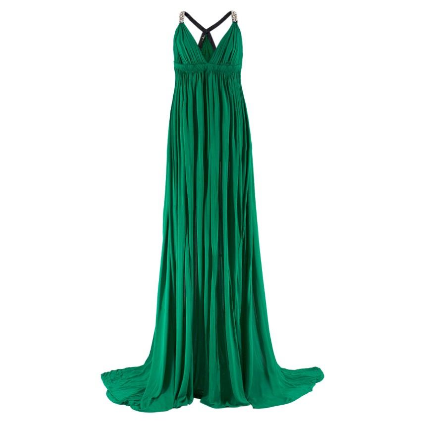 Amanda Wakeley embellished-strap draped gown