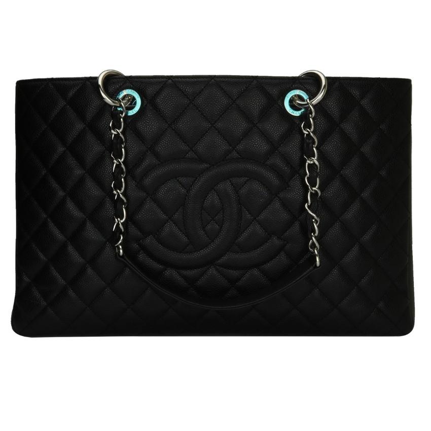 61bc34be3b8e Chanel Black Caviar Xl Grand Shopping Tote | HEWI London