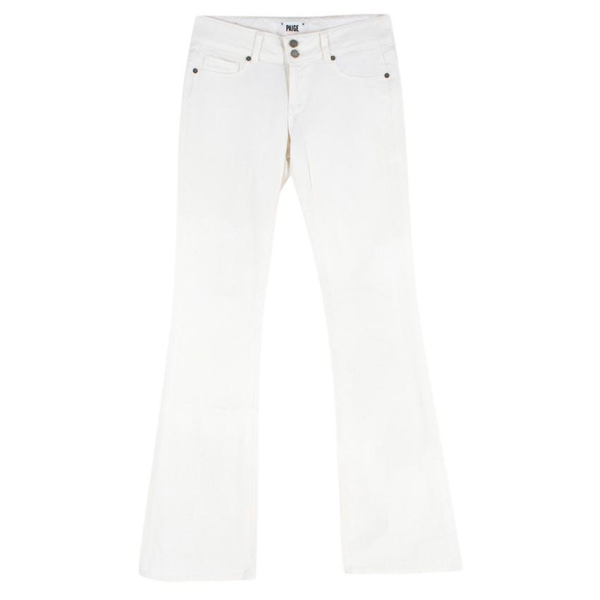 Paige Denim 'Hidden Hills' White Jeans