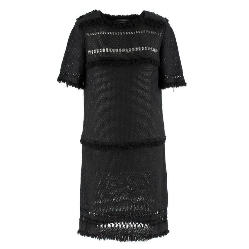 64415fc1577 Isabel Marant Black Fringed Crochet Dress   HEWI London