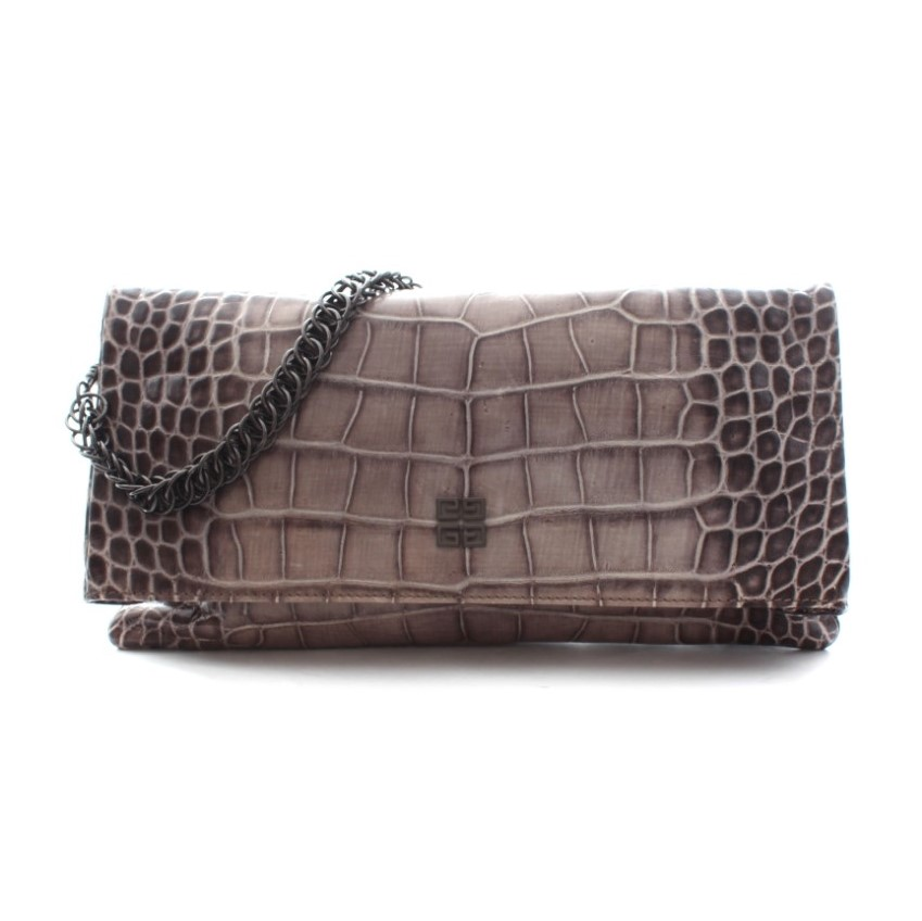 030ac209a87 Givenchy Crocembossed Leather Chain Clutch Bag   HEWI London