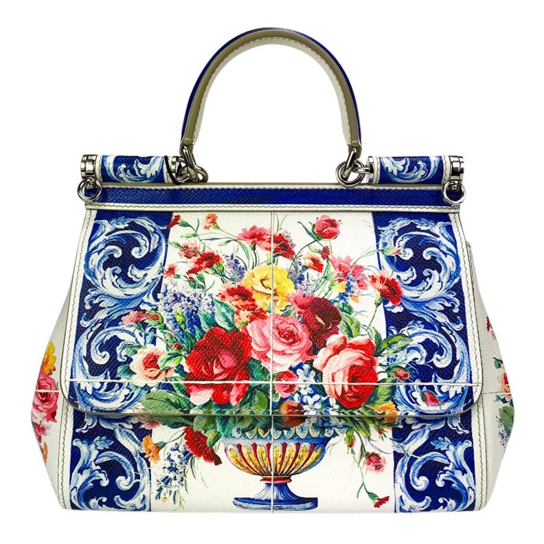 6021a705bb Dolce Gabbana Sicily Floral Vase Bag | HEWI London