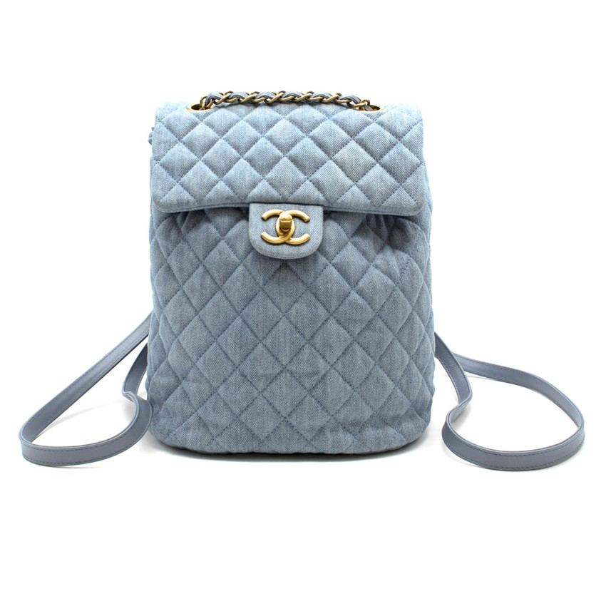 Chanel Matrasse Coco Mark denim backpack