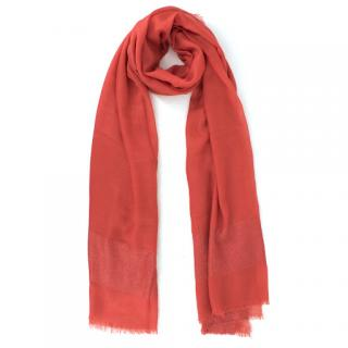 Chanel embroidered cashmere and silk-blend lame shawl