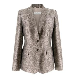 Max Mara single-breasted baroque-jacquard jacket