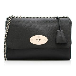 Mulberry black leather cross-body bag