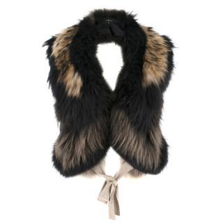 William Sharp fox fur shawl