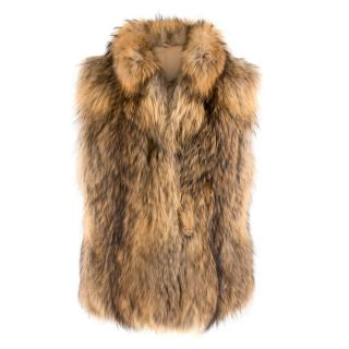 Bespoke raccoon-fur gilet