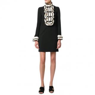 Gucci ruffle-bib black Mini Dress