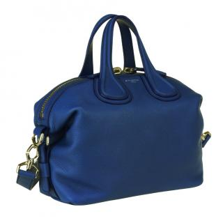 Givenchy Nightingale Leather Satchel Bag in Electric Blue