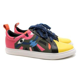 Kat Maconie abstract-print low-top trainers