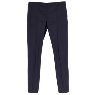 The Row Black Cigarette Trousers