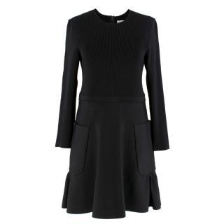 Victoria Victoria Beckham Black Ribbed Dress