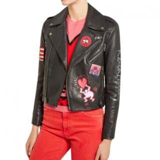 Keith Haring x Alice + Olivia Cody leather jacket - Current Season